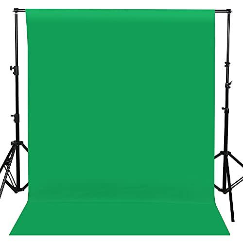 Fondo Fotográfico 1.5 x 2M Plegable Telón de Fondo de Pantalla Lavable Croma Verde Fondo para Fotografía, Video y Televisión