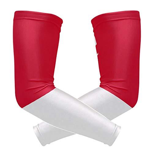BJAMAJ Singapore Vlag UV Bescherming Koeling Arm Mouwen Arm Cover Zonwering voor Mannen & Vrouwen Jeugd Prestaties Stretch & Vocht Wicking