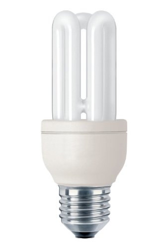 Philips genie bombilla de tubo de bajo consumo 872790082731600 - Lámpara (11w, 50w, stick, a, 220 - 240v, 80 ma) plata, color blanco