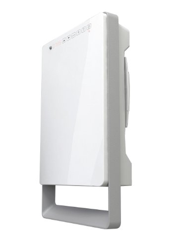 Radialight Termoventilatore digitale a parete TOUCH, con barra portasalviette (Grigio Perla)