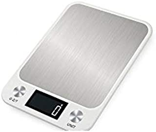 Marlamall Digital Food Scale/Kitchen Scale with Stainless Steel Weighing Platform. weighs in Pounds, Ounces, or Grams to w...