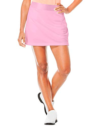 Women's Athletic Skirts with Built-in Shorts Skorts for Tennis Skirt Golf Running Workout and Casual Pink
