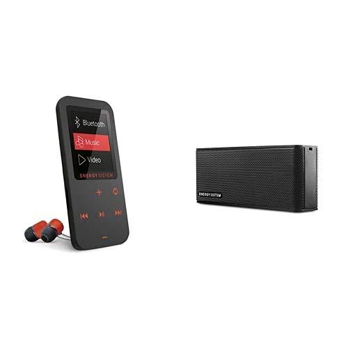 Energy Sistem Touch Reproductor MP4 (Bluetooth, 8 GB, Botones táctiles, Radio FM, microSD), Coral + Music Box B2 Altavoz portátil inalámbrico