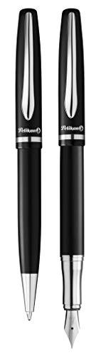 Pelikan 811095Bolígrafos Juego de jazz Elegance, 1bolígrafo y 1pluma estilográfica, negro