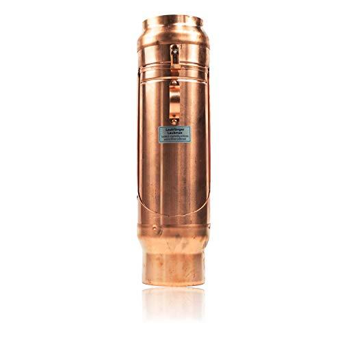 Kupfer Laubfänger 100 mm mit großem Laubfangkorb für Regenrohre - Design Laubfangvorrichtung für maximalen Laubfang - Laubfalle DN 100 zum nachträglichen Einbau in das Ablaufrohr