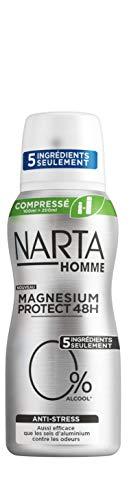 NARTA Déodorant Antistress Compressé Homme Magnésium Protection Anti Stress 100 ml