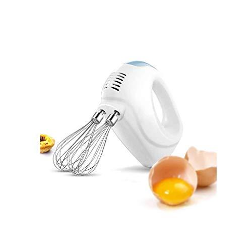 YUEZPKF Exquisito Huevo eléctrico de Mano, batidor de Huevos de Acero Inoxidable para el hogar mezcladores eléctricos para la Cocina.