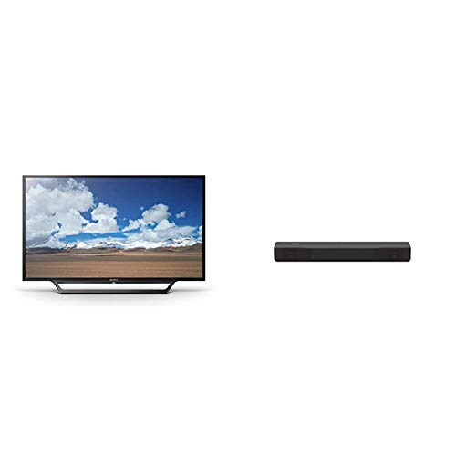 Sony KDL32W600D 32-Inch HD Smart TV - Black with 2.1ch Sound Bar with Built-in Subwoofer and Bluetooth