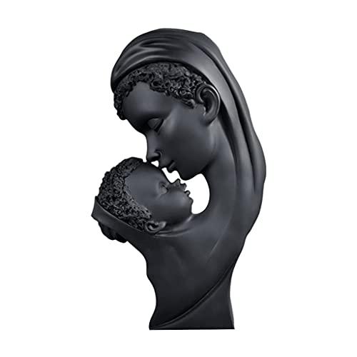perfk Figuras de Mon and Child Estatuas Modernas Pintadas a Mano Madre Sosteniendo Esculturas de Bebé para Recordar El Gran Amor de Las Madres, Regalo para