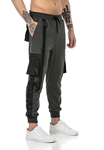 Redbridge Pantalón Chandal para Hombre Joggers Sweat-Pants Gris XL