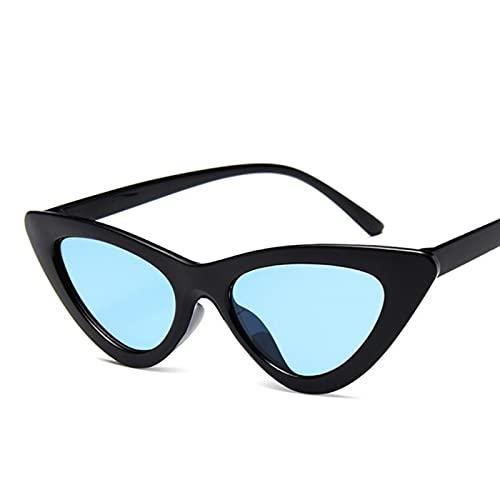 UKKD Gafas De Sol Ojo De Gato Mujeres Pequeño Marco Gafas De Sol Mujer Vintage Vintage Solshades Espejo Conducción Uv400