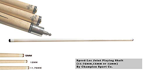 Gator New Champion Sport Exclusive! Extra Pool Cue Shaft for Fury Dl, Nr Series Cues(Speed-loc Joint, Tip Size 11.75mm,12mm or 13mm) by Champion Sport Co. (Pool Cue Shaft 11.75mm for Speed-Loc Pin)