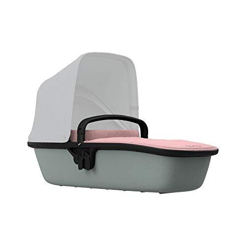 Quinny LUX - Capazo ultraligero para Zapp Flex Plus, Zapp Flex, Zapp Xpress, apto desde el nacimiento, color rosa y gris