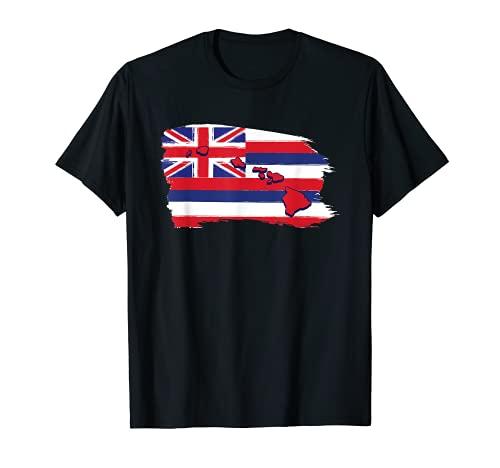 Hawaii Hawaii Bandera Playa Aloha Summer Vacation Souvenir Camiseta