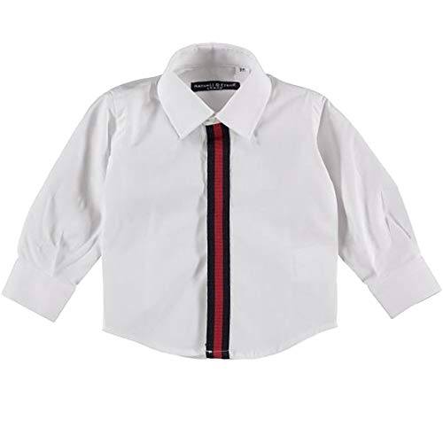 MANUELL&FRANK Baumwoll-Hemd für Neugeborene, Weiß, MF3133N, Weiß 24 Monate