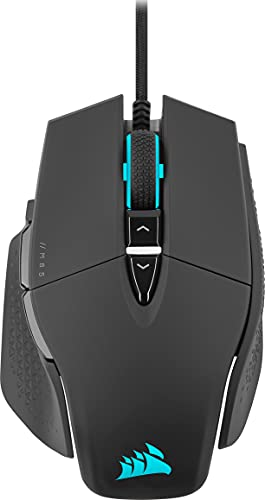 Corsair M65 RGB ULTRA, Ratón para Juegos FPS Personalizable (Sensor Óptico de 26.000 PPP CORSAIR MARKSMAN, Conmutadores Ópticos OMRON, Tecnología de Hiperprocesamiento CORSAIR AXON) Negro