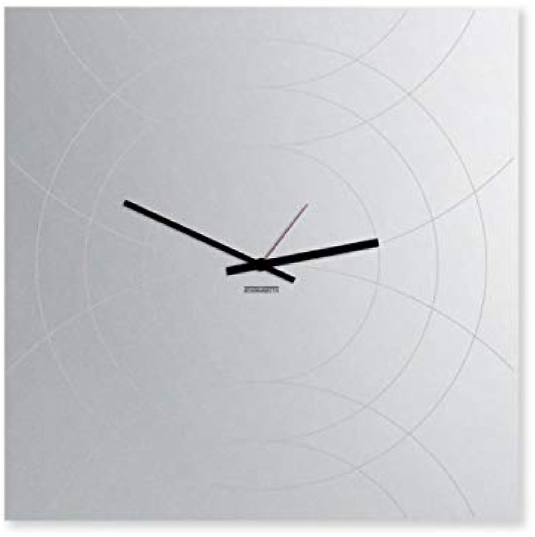 DesignObject Wall Clock Narciso Square Mirror Black 50x50