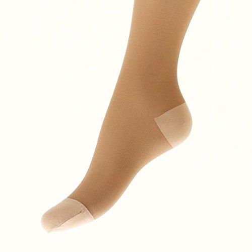弾性ストッキング(140デニール下肢静脈瘤)(ライトベージュ、L)
