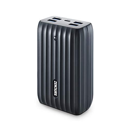 Zendure X6 USB-C Hub und Powerbank 20000mAh, Externer Akku mit 45W Power Delivery & QC3.0 und LED Disply, 5-Port Output Akkupack für MacBook, iPhone, Samsung Galaxy, Smartwatch, Kopfhörer usw.-Schwarz