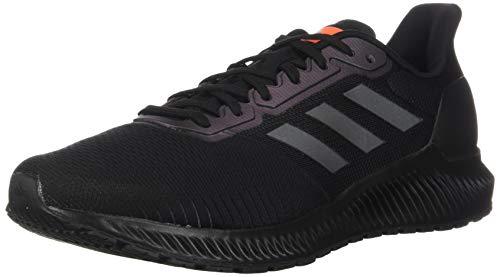 adidas Men's Ride Running Shoe, Black/Grey/Solar Orange, 6.5 M US