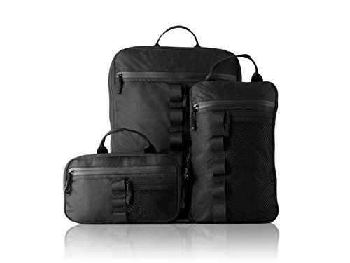 TRAVEL DUDE Juego de cubos de compresión para empaquetar y hacer senderismo | ligeros Packing Cubes | Juego de bolsas y organizador de equipaje para mochila y maleta | 3 piezas