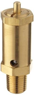 "Kingston 100SS Series Brass Safety Valve, 75 psi Set Pressure, 1/4"" NPT Male by Kingston Valves"