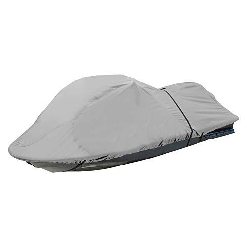 DTLEO Funda de Lancha Motora, 210D Impermeable Oxford UV Protección Motora Lancha Cover, 165X118 Inch (420X300cm) Gris