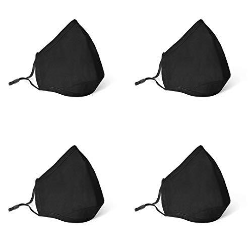 Mascarillas Higiénicas Reutilizables Lavables - Algodón 100% - Incluye 4 mascarillas y 50 filtros. (PACK 5)