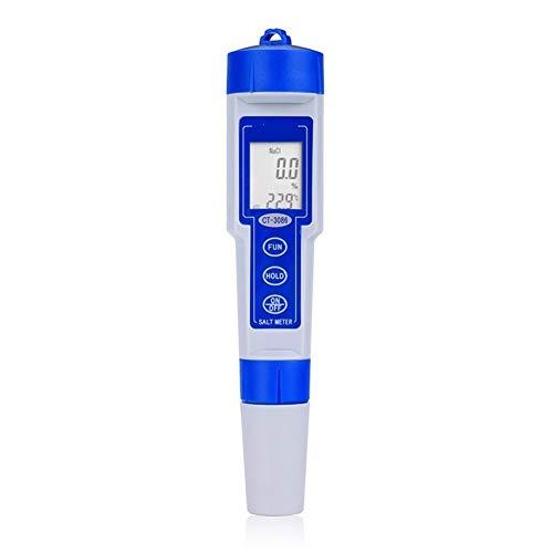 Testeur numérique, mesure scientifique Testeur de salinité numérique de type compteur de sel de haute performance de type stylo chimique piscine pharmaceutique testeur de qualité de l'eau Mètre numéri