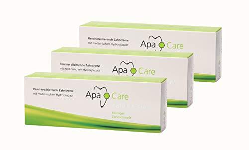 3x Apa Care remineralisierende Zahncreme 75 ml Flüssiger Zahnschmelz Zahnpasta