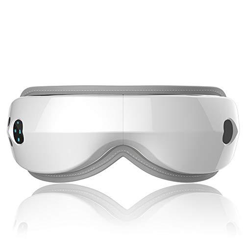 Elektrischer Massagegerät Augenschutz Professionelle Massageausrüstung mit Hitzevibration Luftkompression Musik,White