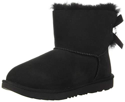 UGG Unisex Kinder Mini Bailey Bow II Classic Boot, Black, 33.5 EU