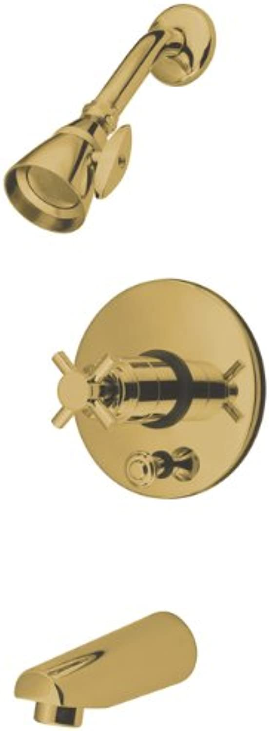 Kingston Brass KB86920DX Concord Tub and Shower Faucet With Digreener and DX Handle, Polished Brass