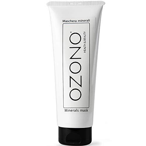 OZONO H&B Maschera Viso Ai Minerali Professionale - Olio Ozonizzato, Argilla Verde - Antibatterica - Antirughe - Idratante - Azione Purificante Nutriente - MADE IN ITALY (100 ML)