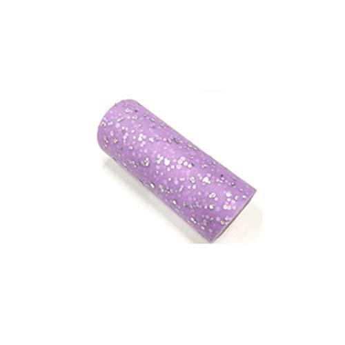 Leoie 15CMx25Yard Glitter Pailletten Tulle Roll voor Bruiloft Verjaardag Feestjurk Decoratie C24 licht paars rood