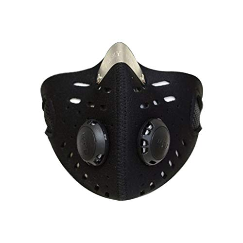 Garneck Máscara a Prueba de Polvo de Carbón Activado Elástico de Neopreno Máscara de Equitación Ciclismo Correr Motociclismo Máscara