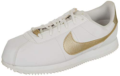 Nike Herren Cortez Basic Sl (gs) Traillaufschuhe, Weiß Summit White MTLC Gold Star 105, 39 EU