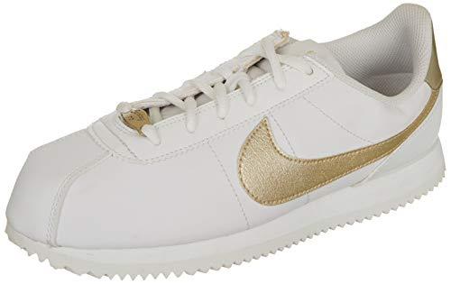 Nike Herren Cortez Basic Sl (gs) Traillaufschuhe, Weiß Summit White MTLC Gold Star 105, 39 EU