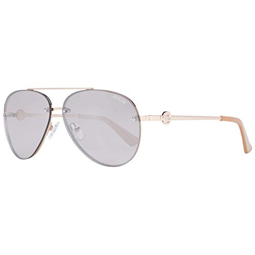 Gafas de sol Guess Factory GF 6107 28U Brillante Oro Rosa/Burdeos Espejo