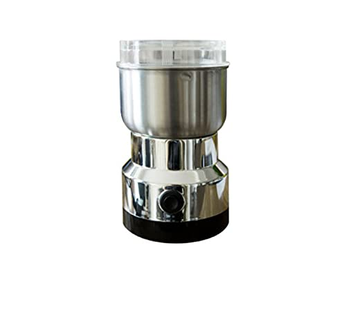 Coffee Grinder – Multifunction Smash Machine Spice Grinder Portable Electric Grain Mill Grinder Stainless Steel 250W Powerful Grinder for Coffee Beans, Spices, Peanuts, Grains and More (Silver)