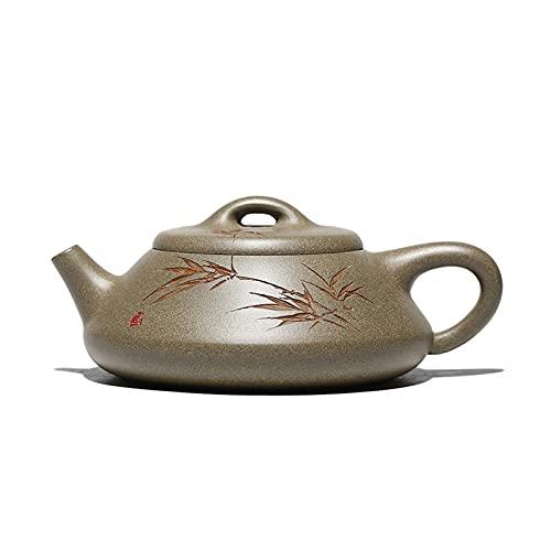 Tetera Juego de té de tetera de arcilla púrpura de la tetera de arcilla púrpura Juego de bebida conjuntos de arcilla verde tetera verde conjunto de té oscuro de la bebida conjunto conjunto de té