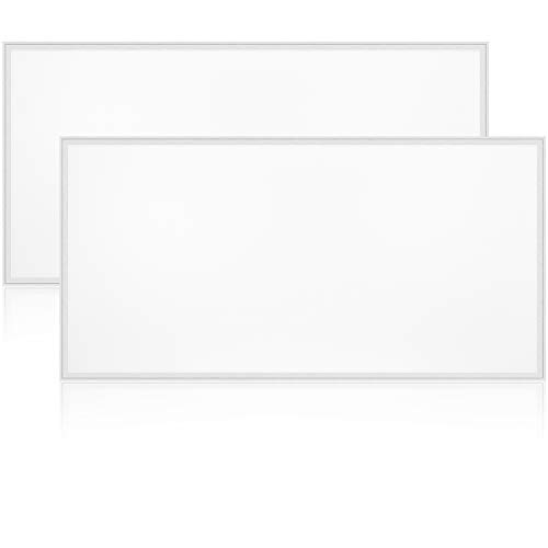 Luxrite LED Light Panel, 2x4 FT, 72W, 6500K Daylight White, 8550 Lumens, 24x48 Inch LED Flat Panel, 0-10V Dimmable, UL Listed, Pack of 2