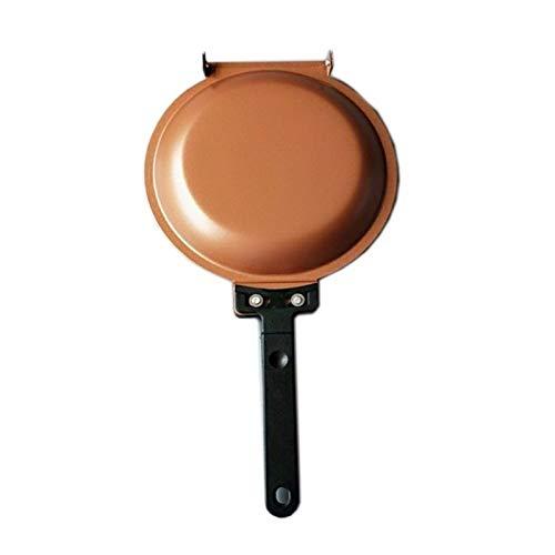 Doble Lateral Antideslizante sin Palanca de Cobre Cerámica creake Fabricante inducción sartén Cacerola Horno y lavavajillas Accesorios Seguros (Color : Pan)
