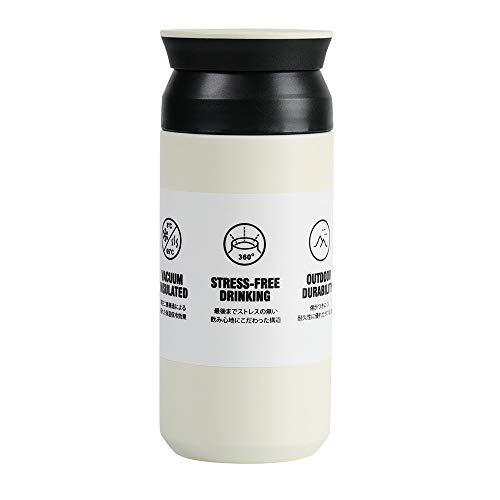 EKKONG Bottiglia Termica, 350 ml Mug Thermos Freddo,Tazze Caffe tè da Viaggio, Doppia Bottiglia per Vuoto in Acciaio Inossidabile, Prova di Perdite, R