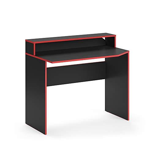 Vicco Gaming Desk Schreibtisch Kron Gamer PC Tisch Computertisch Bürotisch (Tisch 100cm)