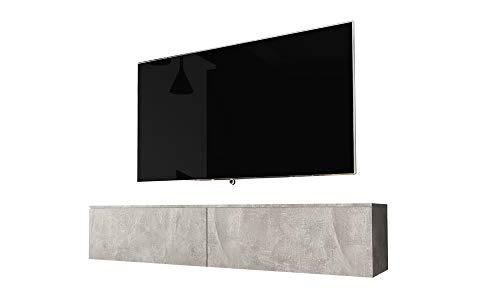 Selsey KANE TV-Schrank hängend/stehend 140 cm (Betonoptik)