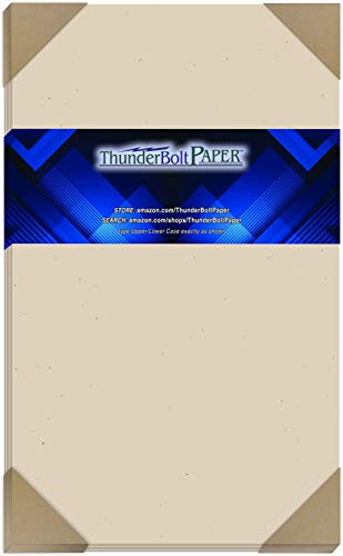 100 Earthy Driftwood Tan Fiber 80# Cover Paper Sheets - 8.5