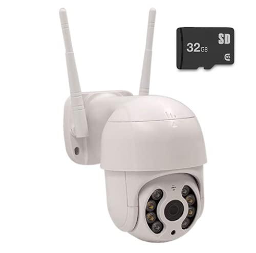 Câmera Ip 2 Antenas Externa Wifi Wireless Speed Dome Visão Noturna com Micro SD 32GB incluso