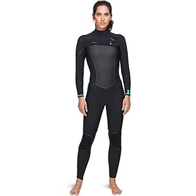 O'NEILL Women's Psycho Tech 4/3Mm Chest Zip Full Wetsuit, Black/Black, 6