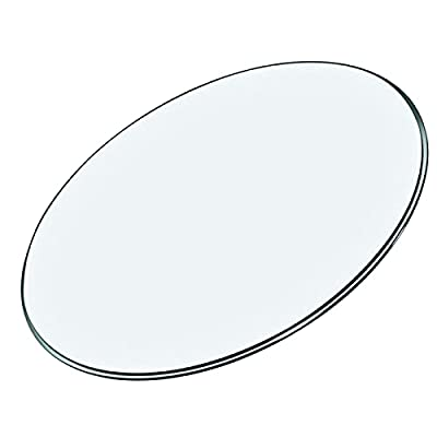 AILILI Tempered Glass Table Top,Tempered Polished Edge,Round Glass Table Top -Clear,Glass Table Top Ø 21in•23in•23.6in•25in•27in•28in Thickness: 9mm (Size : Ø38cm(15in))